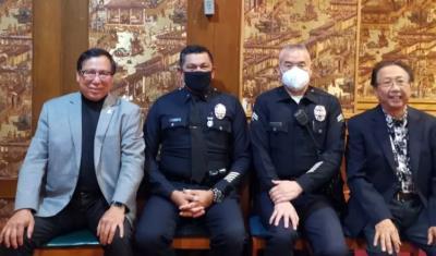 LAPD新任副局長拜會華埠 關注亞裔仇恨犯罪